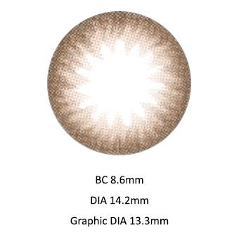 [1日使い捨て] アリシアブラウン度なし~ 10.00までDIA 14.2mmカラコン