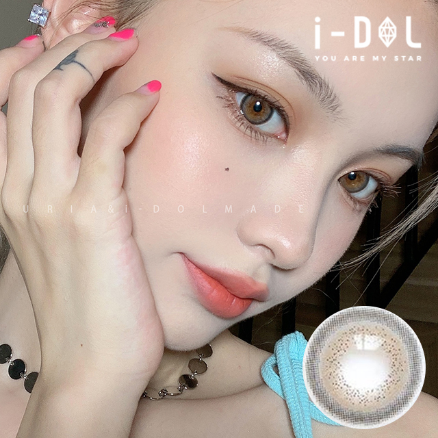 ★NEW★【URIA i-DOL】アイドルレンズムードブラウン[ MADE MOOD BROWN ] 1年用